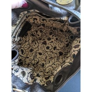 Brighton Bags - Copper/Pewter Bow Bag   Brighton